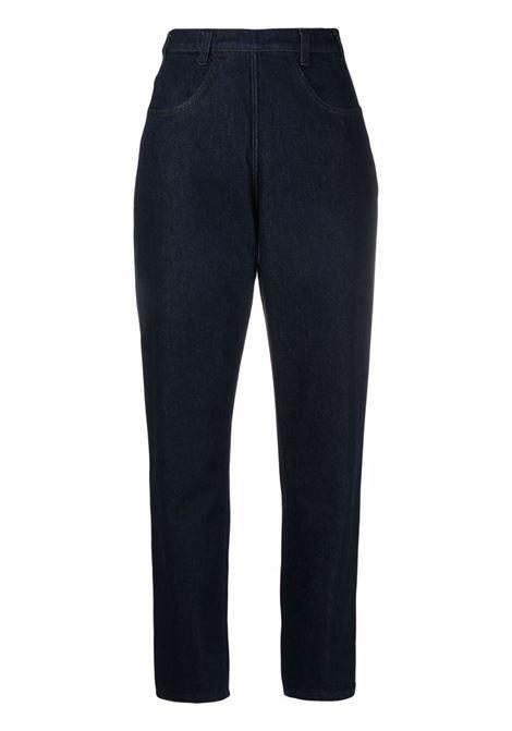 Jeans dritti a vita alta blu - donna PHILOSOPHY DI LORENZO SERAFINI | Jeans | V03245730290