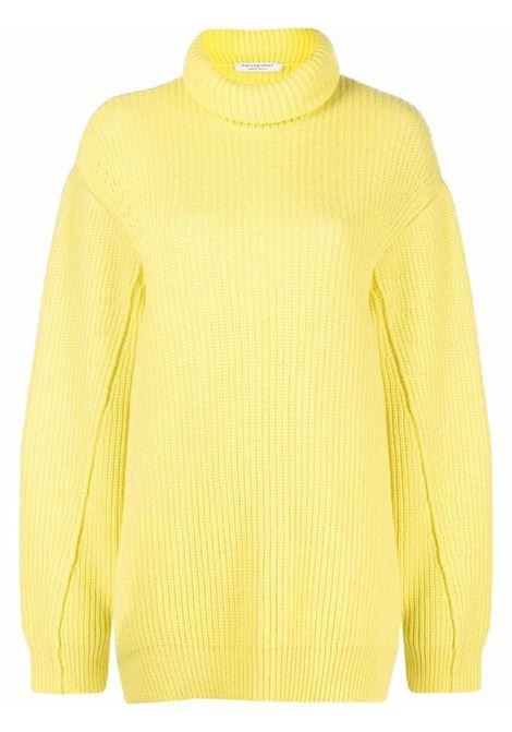 Yellow ribbed roll neck jumper - women  PHILOSOPHY DI LORENZO SERAFINI | V0919710132