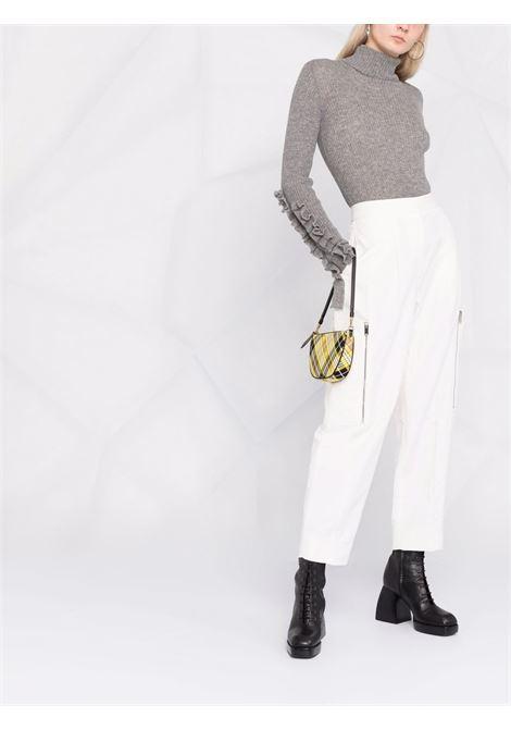 Ribbed-knit ruffled-sleeves jumper grey - women PHILOSOPHY DI LORENZO SERAFINI | V09235705505