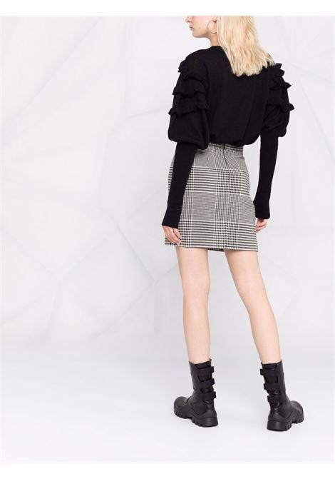 Fully-ruffled knitted jumper black - women  PHILOSOPHY DI LORENZO SERAFINI | V09315705555