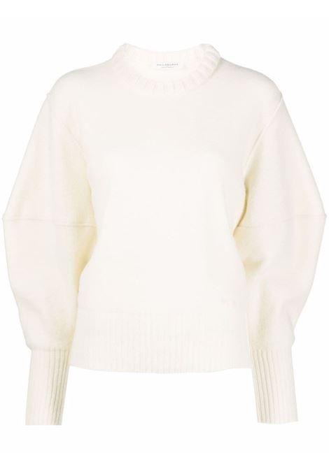 Exaggerated-sleeve jumper in ivory - women PHILOSOPHY DI LORENZO SERAFINI | V093357033