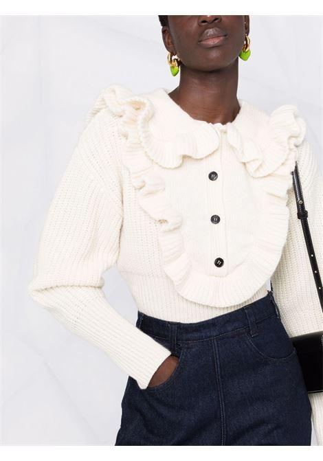 Ruffled-collar jumper cream - women  PHILOSOPHY DI LORENZO SERAFINI | V093557033