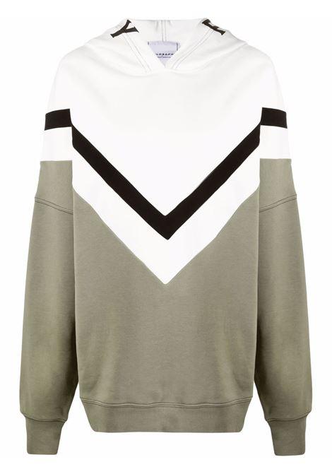 Logo-print sweatshirt white and green - women  PHILOSOPHY DI LORENZO SERAFINI | V170557491430