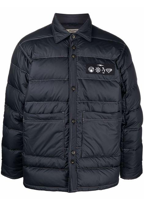 Logo-patch padded jacket in navy blue - men  PHIPPS | J024MA2SY000106003