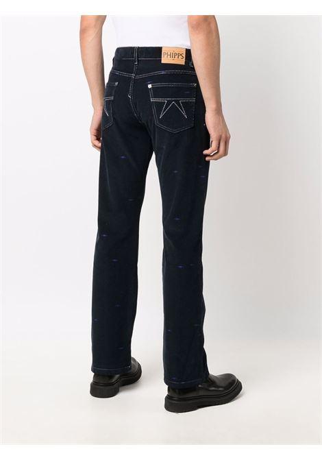 Straight-leg organic cotton jeans in blu - men  PHIPPS | P018MA2C000206008