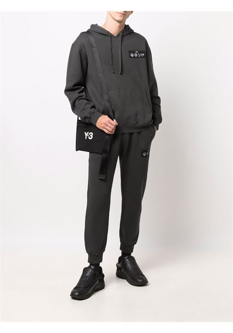 Logo-patch organic cotton joggers in dark grey - men  PHIPPS | P029MA2J000701004