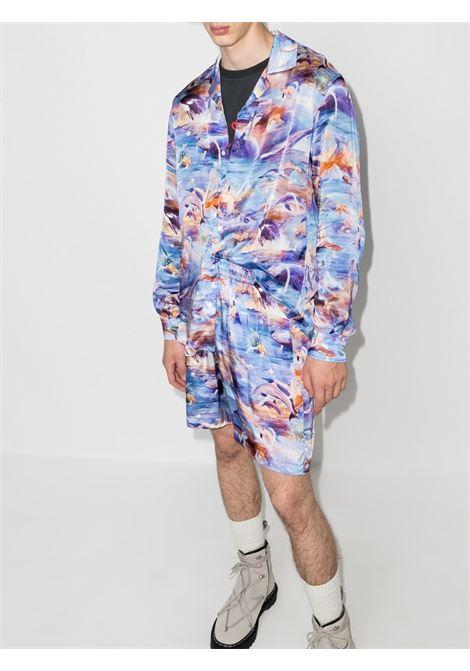 Sealife long-sleeve shirt in blue - men  PHIPPS | S015MA2SY500012025