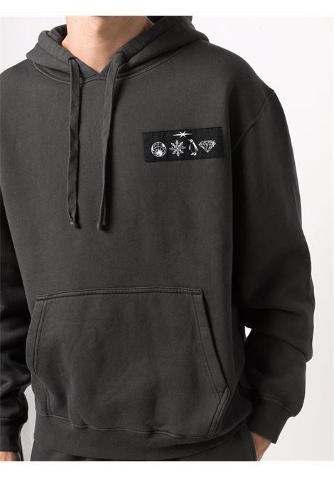 Logo-patch pullover sweatshirt in orca black - men  PHIPPS | T041MA2J000701004