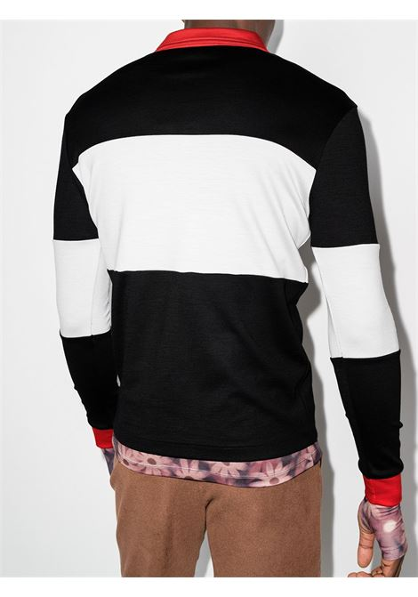 x Reda striped polo shirt in black and white - men  PHIPPS | T042MA2REDA01001