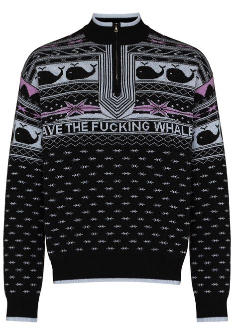 Save the Whales high-neck jumper in black - men  PHIPPS | X012MA2K000401001