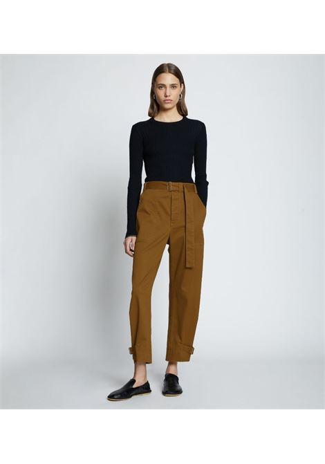 Pantaloni affusolati con cintura in marrone - donna PROENZA SCHOULER WHITE LABEL | WL2136096AC115311