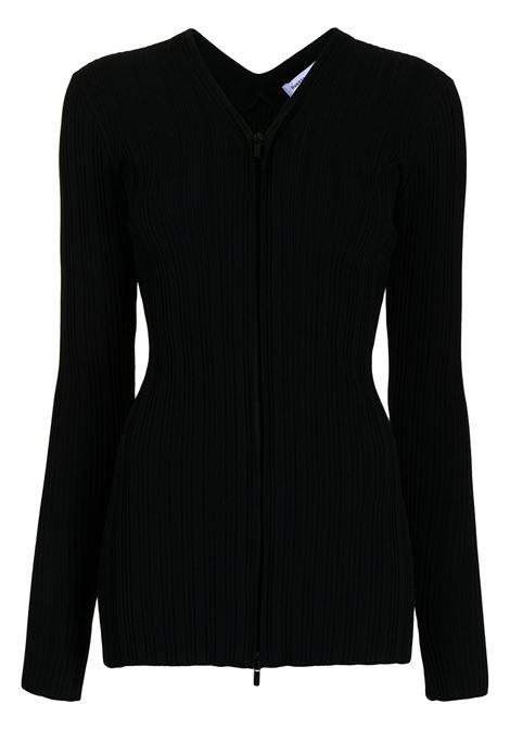 Cardigan con zip in  nero - donna PROENZA SCHOULER WHITE LABEL | WL2137649KY227001