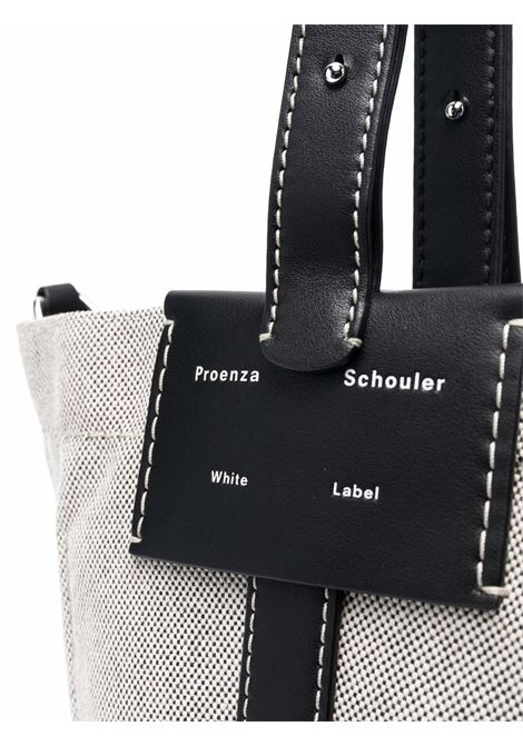 Sullivan canvas bucket bag in black and white - women PROENZA SCHOULER | WB213005F00001120