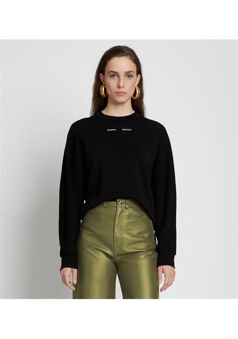 Contrasting logo sweatshirt in black - women  PROENZA SCHOULER | WL2124220JC148001