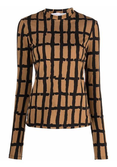 Top a maniche lunghe khaki e nero- donna PROENZA SCHOULER | WL2134277JC150280