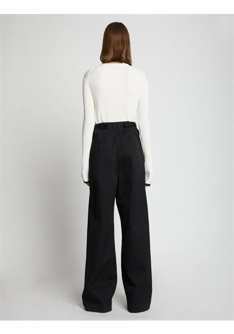 High-waisted wide-leg trousers in black - women PROENZA SCHOULER | WL2136097AC115001