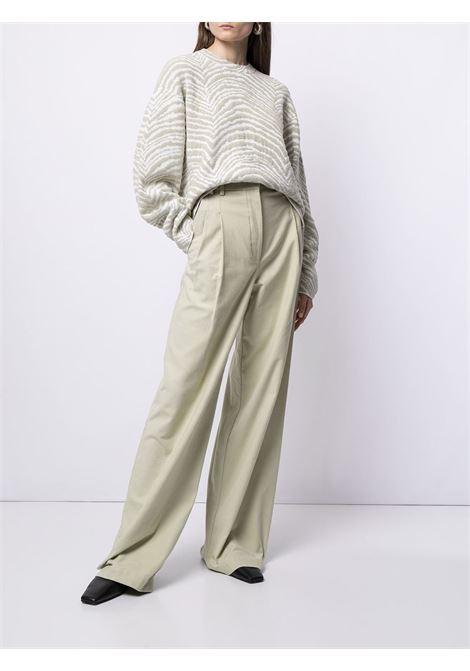 Felpa a righe in grigio e bianco - donna PROENZA SCHOULER | WL2147680KC091081