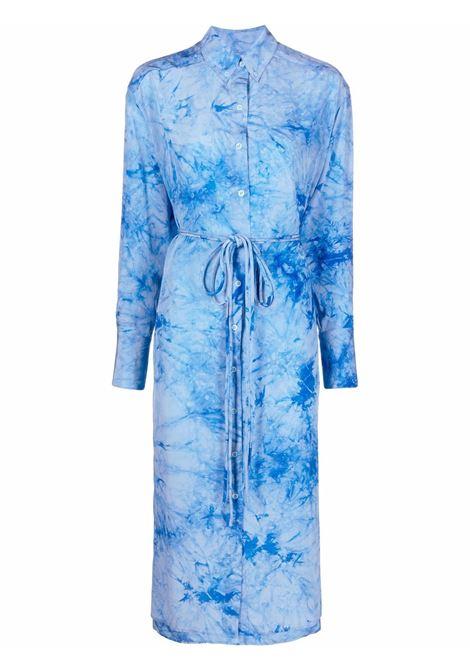 Tie-dye silk shirtdress in blue - women PROENZA SCHOULER | WL2213211BST157475
