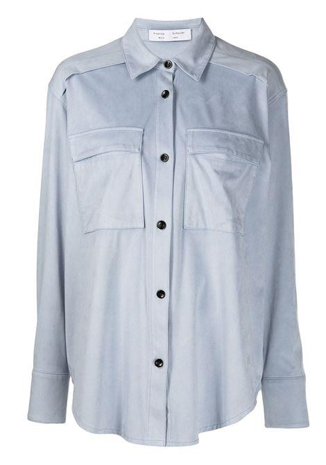 Faux suede shirt in stone blue - women PROENZA SCHOULER | WL2214271LA049420