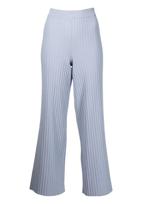 Lightweight ribbed-knit trousers in stone blue - women PROENZA SCHOULER | WL2217738KY234420