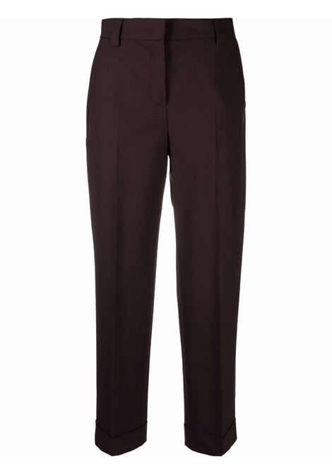 Pantaloni a gamba ampia crop in marrone - donna PT01 | VSMBZ00STDTO990680