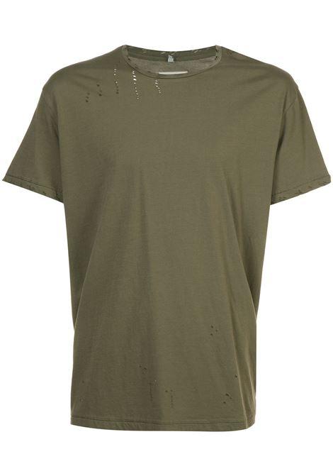 Green distressed T-shirt - men R13 | R13M301310