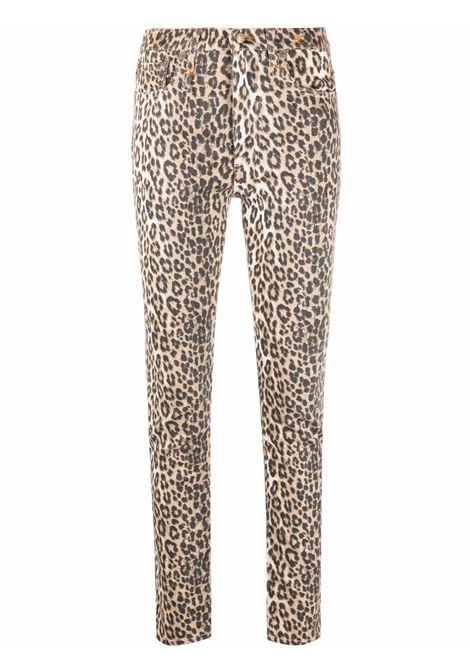 Jeans skinny con stampa leopardata - donna R13 | R13W0023D020A