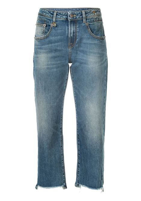 Jeans dritti crop in blu - donna R13 | R13W0091143A47G