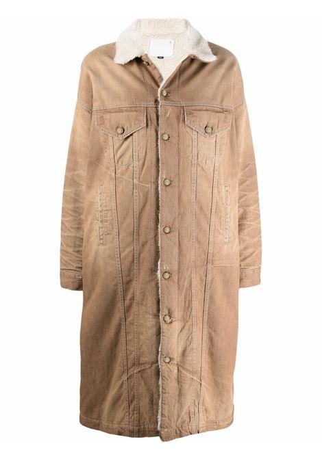 Cappotto denim oversize in marrone - donna R13 | R13W8079D011A