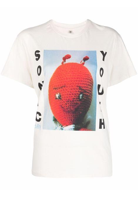 Sonic Youth Dirty Boy T-shirt in ecru and multicolour - women R13   R13WK001K027B