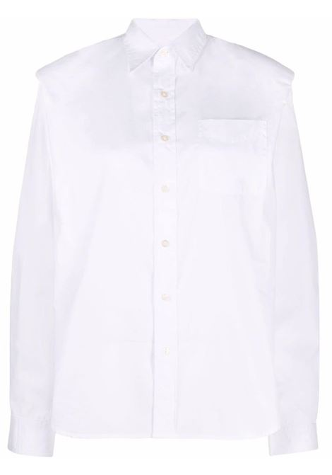 Structured-shoulder long-sleeve shirt in white - women R13   R13WR001R001A