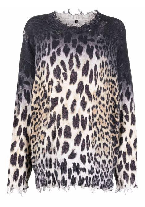 Maglione con stampa leopardata - donna R13 | R13WY009Y001A
