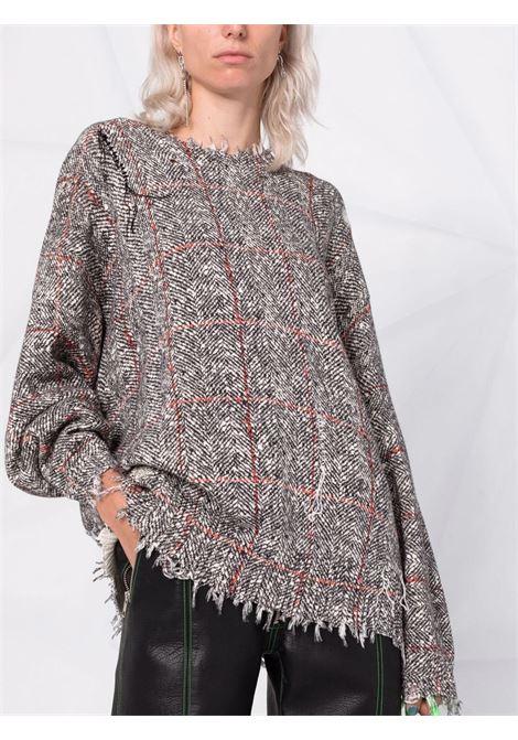 Distressed tweed jumper in grey - women R13   R13WY009Y014B