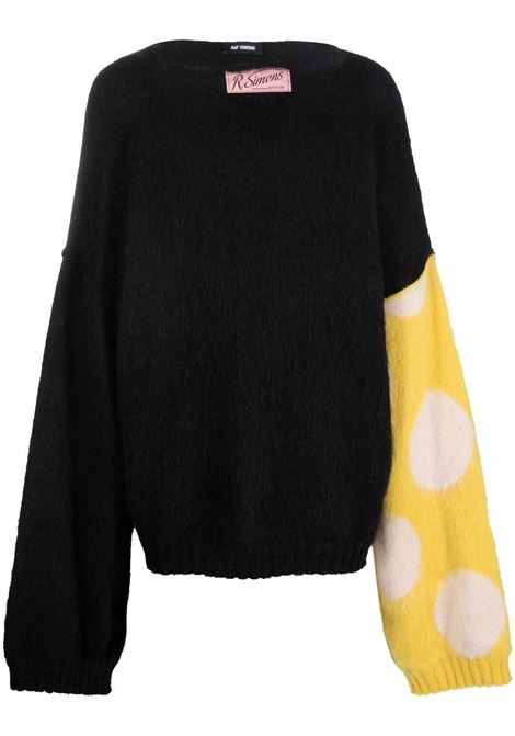 Black and yellow spot-intarsia knitted jumper - men  RAF SIMONS | 212820500019915