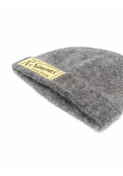 Grey logo-patch knitted beanie - unisex RAF SIMONS | 212846500010080