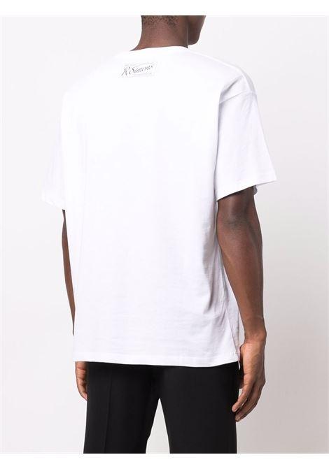 Graphic-print T-shirt in white - men  RAF SIMONS | 212M120190010010