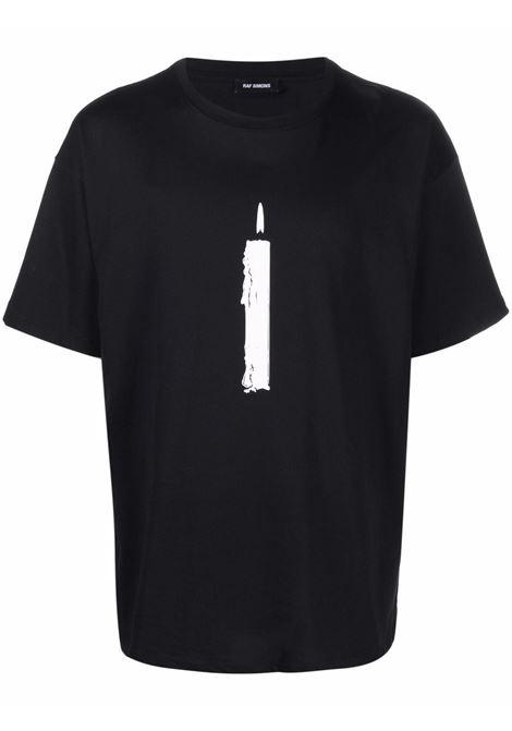 Candle-print T-shirt in black - men  RAF SIMONS | 212M121190010099
