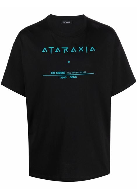 Tour short-sleeve T-shirt in black - men  RAF SIMONS | 212M125190010099