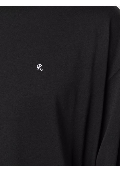 Black graphic-print long-sleeved T-shirt - men  RAF SIMONS | 212M133190010099