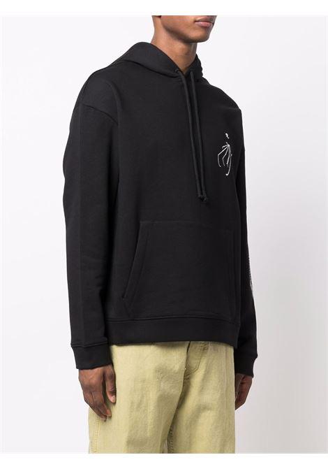 Black Skeleton-embroidered long-sleeve sweatshirt - men  RAF SIMONS | 212M163190040099