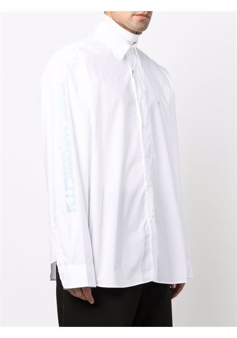 White embroidered-logo shirt - men  RAF SIMONS | 212M281100070010