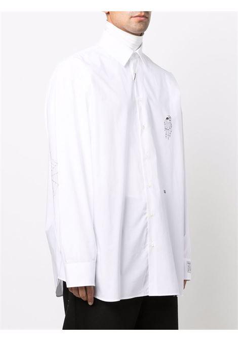 White embroidered-logo shirt - men  RAF SIMONS | 212M293A100070010