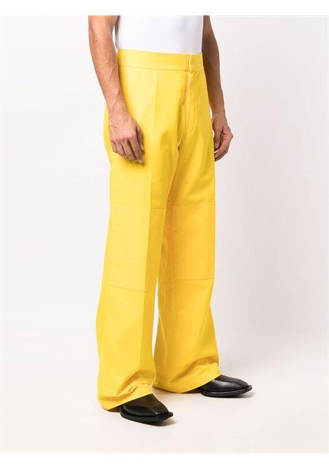 Wide-leg tailored trousers sunshine yellow - men RAF SIMONS | 212M361150200015