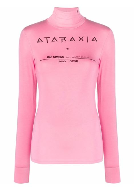 Top con stampa in rosa - donna RAF SIMONS   212W147190160031