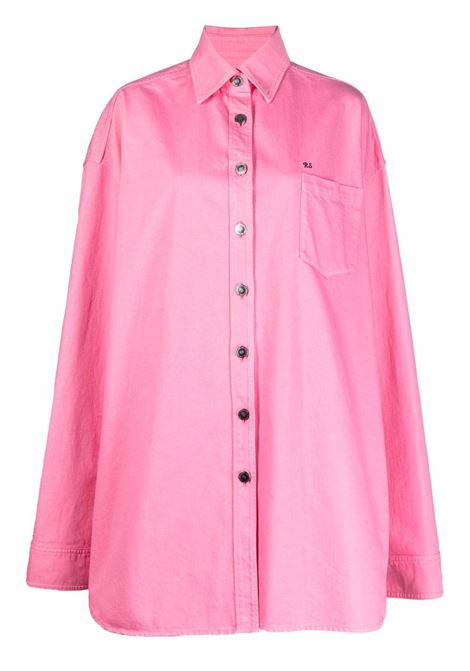 Camicia denim oversize in rosa - donna RAF SIMONS   212W243100320034