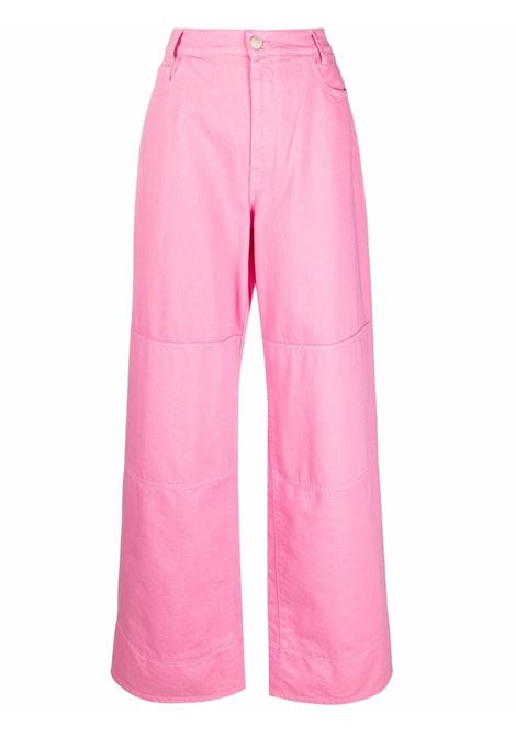 Jeans a gamba ampia in rosa - donna RAF SIMONS   212W316100320034