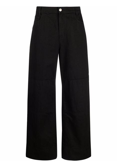 Jeans a vita alta in nero - donna RAF SIMONS   212W316100320099