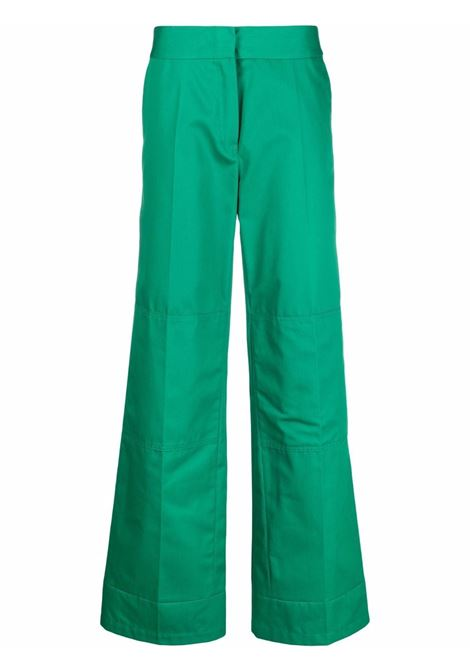 Pantaloni a gamba larga verde - donna RAF SIMONS   212W361150200020