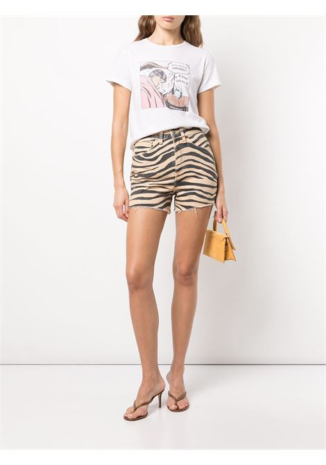 T-shirt con stampa  in bianco - donna RE/DONE   0242WCGT192VNTGWHT