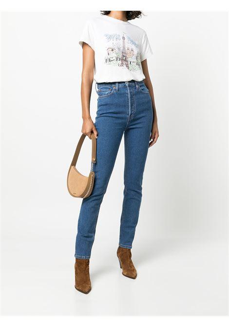 T-shirt taglio comodo in bianco - donna RE/DONE   0242WLSTE13VNTGWHT
